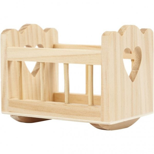 Wiege aus Holz