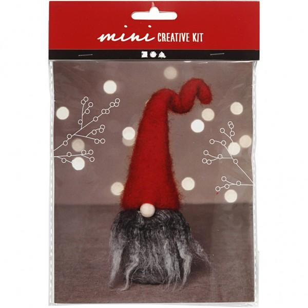 Mini Creativset Weihnachtswichtel grau