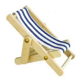 Liegestuhl blau groß
