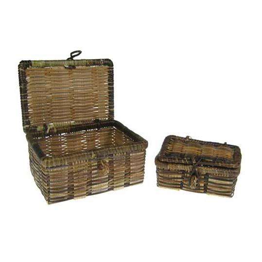 Bambus Korb mit Deckel