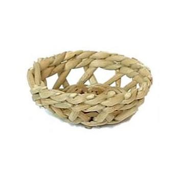 Brotkörbchen aus Binsen hell