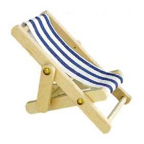 Wichtel Liegestuhl blau klein