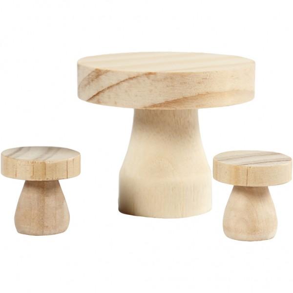 Tisch mit Hockern