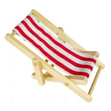 Wichtel Liegestuhl rot groß