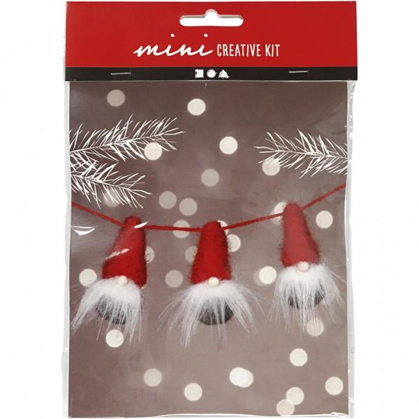 Mini Creativset Weihnachtswichtel am Seil