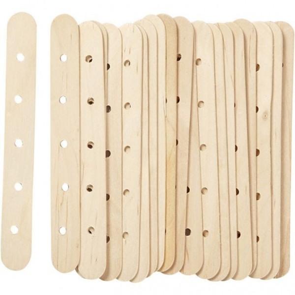 Eisstiele aus Holz mit Lochung