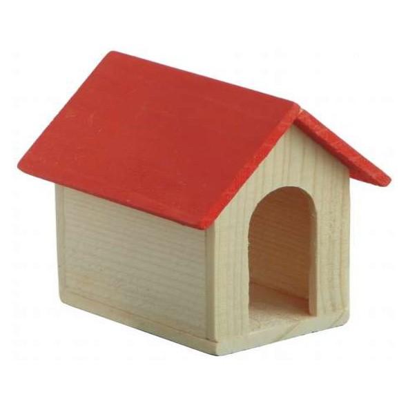 Häuschen mit rotem Dach
