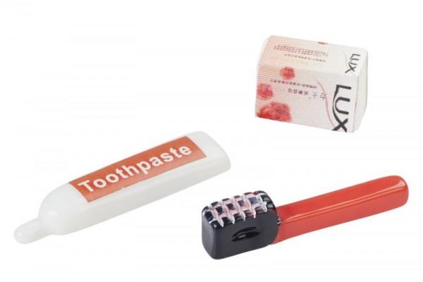 Zahnbürste und Seife